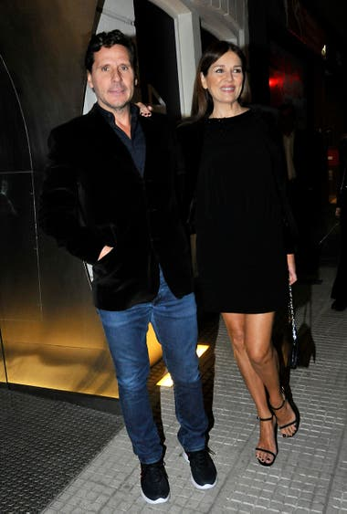 Andrea Frigerio llegó acompañada por su marido, Lucas Bocchino