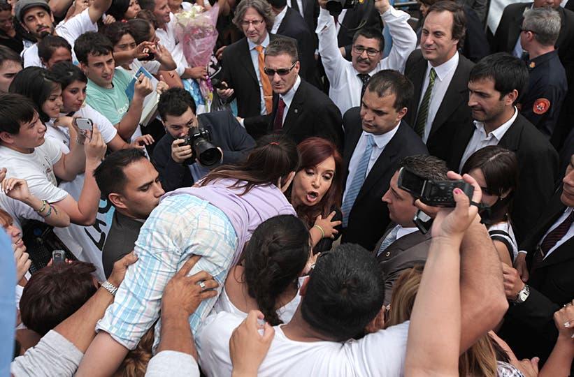 Cristina Kirchner durante la inauguración del Barrio del Bicentenario en General Rodrígez, 15 de noviembre. Foto: LA NACION / Santiago Hafford
