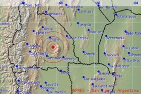 El epicentro del sismo