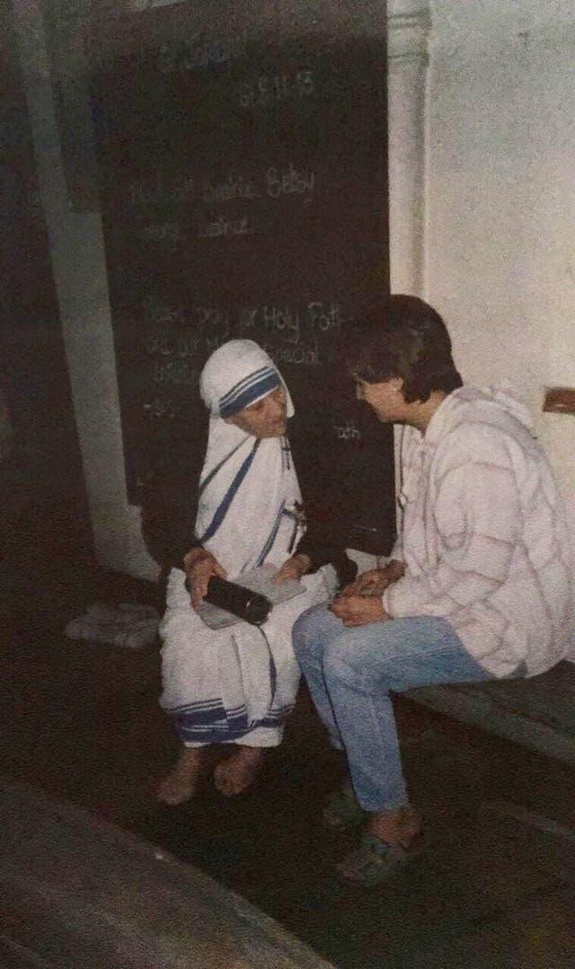 Con la Madre Teresa