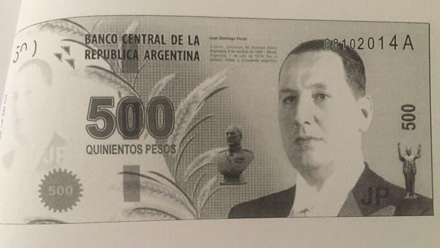 El billete diseñado de Juan Domingo Perón