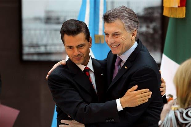 Peña Nieto y Macri exhibieron la buena sintonía mutua en el encuentro de ayer