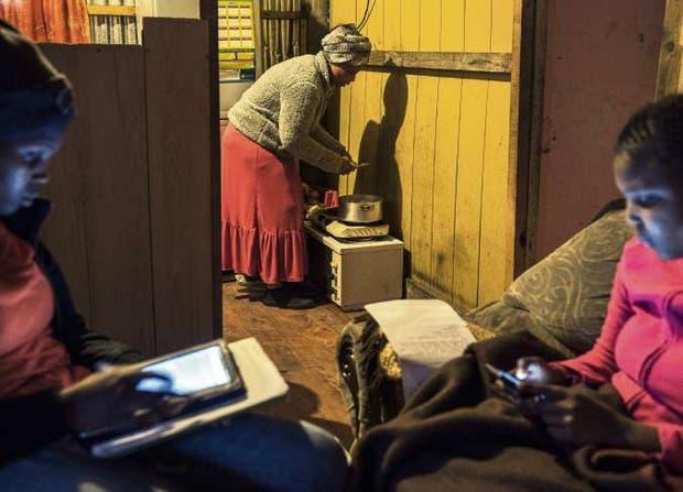 La vida cotidiana en un township negro de Ciudad del Cabo
