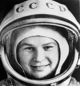 Tereshkova, en sus épocas de astronauta