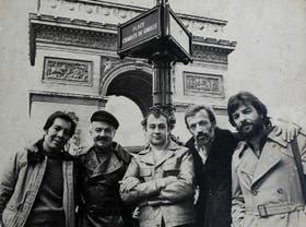 Suárez Paz, Piazzolla, Console, López Ruiz y Ziegler, en París