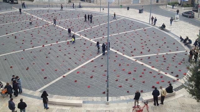 Entre 80 ciudades, el proyecto de arte público pasó por Andria, en Italia