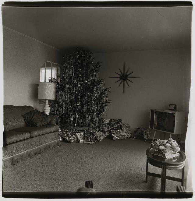 Selección de Alberto Goldenstein: Árbol de Navidad en un living de Levittown, Long Island, N.Y., 1962 © The Estate of Diane Arbus, LLC.