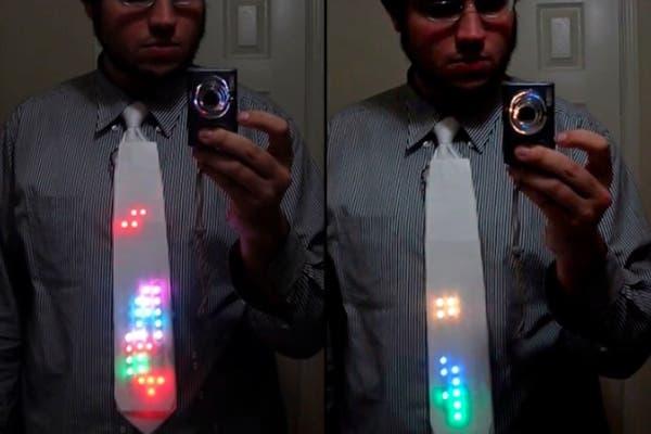 Una corbata hecha con luces de leds. ¿Qué tal?. Foto: http://www.bloglovin.com