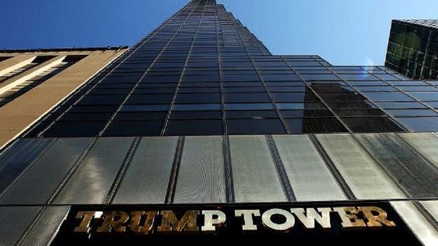 La Torre Trump, ubicada en la Quinta Avenida de Nueva York, es el emblema del emporio del magnate.