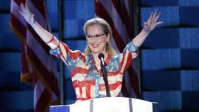 Meryl Streep estuvo en la convención demócrata para apoyar la candidatura de Hillary Clinton.