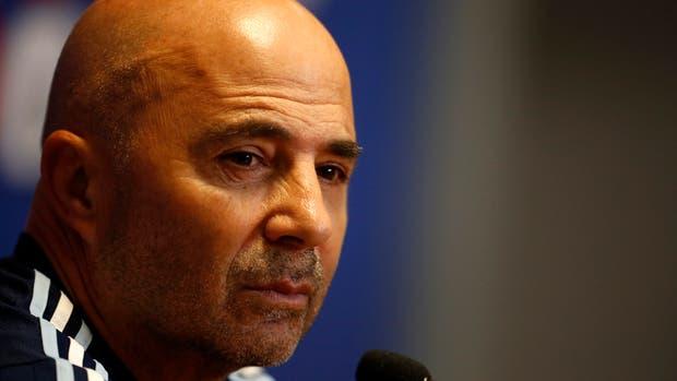 Jorge Sampaoli DT de la seleccion argentina de futbol