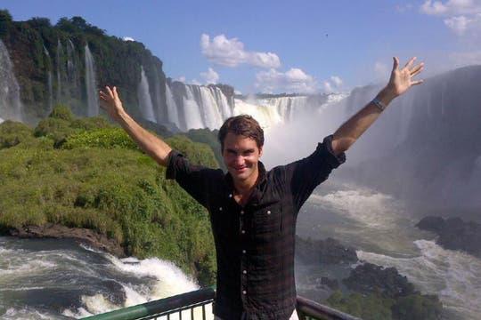 """Amo este lugar"", admitió. Foto: Facebook Federer"