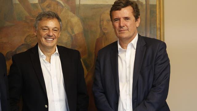 Francisco Cabrera, ministro de Producción, y Martín Etchegoyen, secretario de Industria