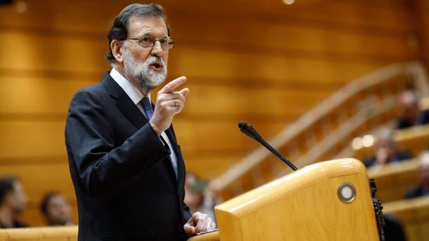 Mariano Rajoy prometió restaurar la ley en Cataluña