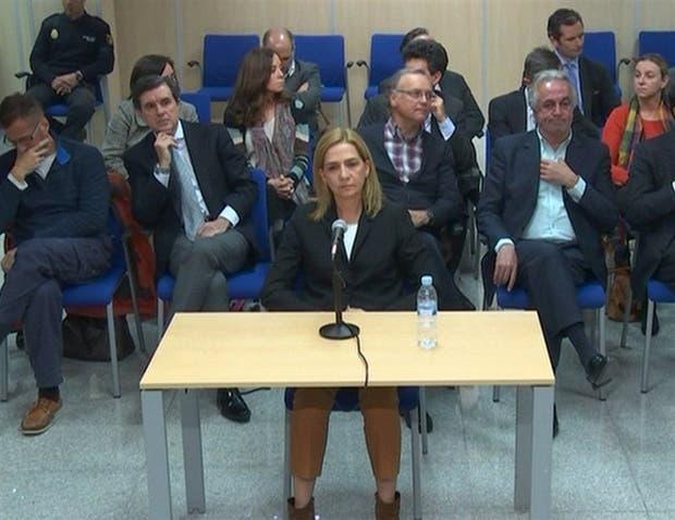 Cristina de Borbón, ayer, ante un tribunal de Mallorca