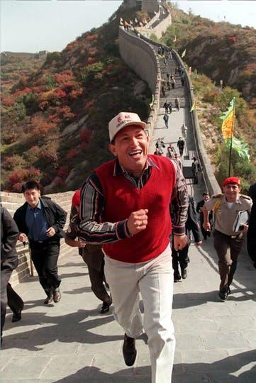 En 1999, durante su visita a la Gran Muralla China. Foto: AP