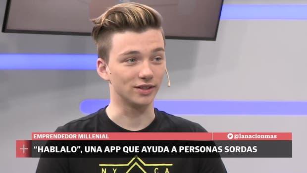 """Mateo Salvatto, el creador de la app """"Hablalo"""""""