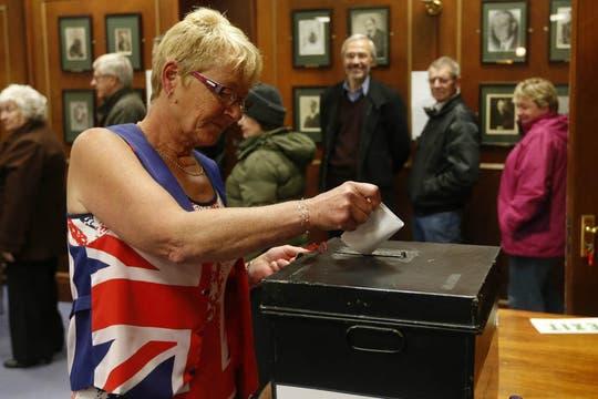 El referéndum se realizará hoy y mañana en las islas Malvinas. Foto: EFE