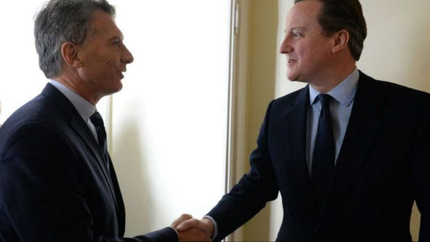 Mauricio Macri junto a David Cameron