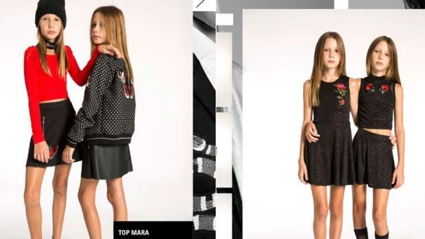 La marca eligió niñas con extrema delgadez para su campaña de invierno