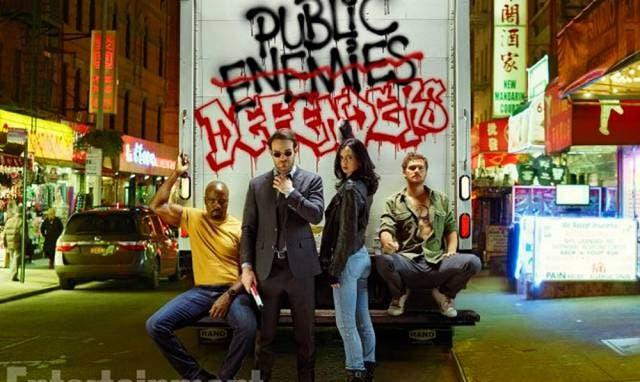 Luke Cage, Daredevil, Jessica Jones y Iron Fist, los integrantes de The Defenders