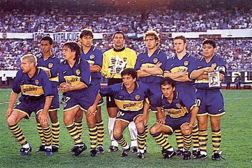 La formación de Boca en el último partido oficial de Diego Maradona. Foto: Archivo