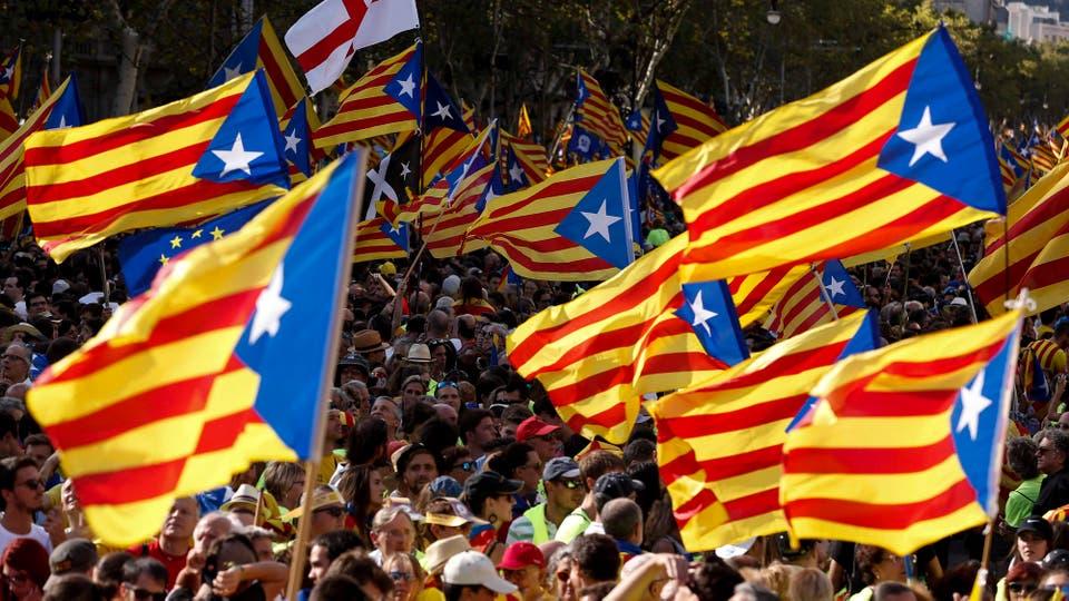La impactante manifestación de la Diada, el Día Nacional de Cataluña, dejó en evidencia la magnitud de la crisis institucional sin precedente a la que se asoma España. Foto: AFP