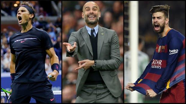 Nadal, Guardiola y Piqué