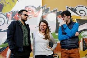 Martín Caamaño, Cecilia Saia y Facundo Arena, lejos de las demos en casete, cerca de la competitiva Web
