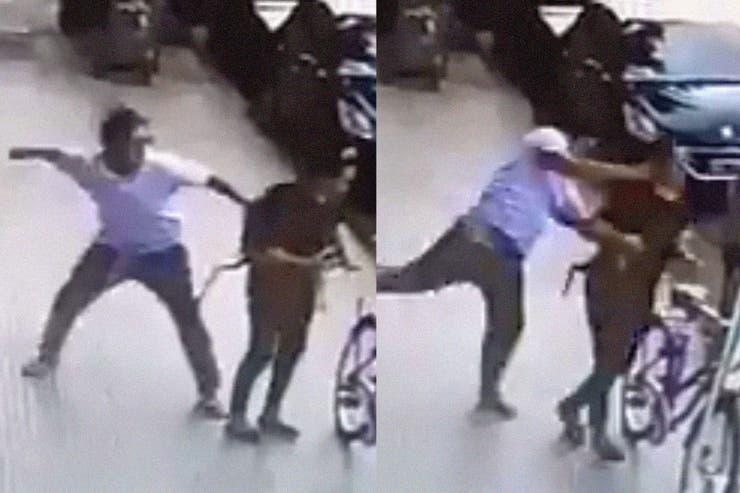 Intentan identificar al hombre que golpeó a una mujer en Palermo