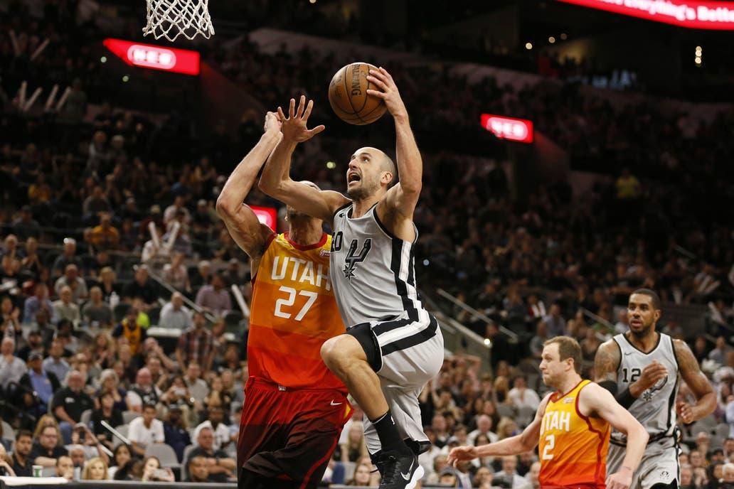 Otra buena noche de Ginóbili en los Spurs