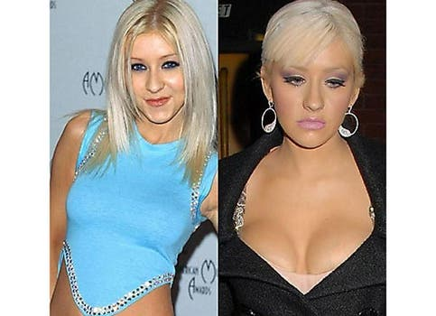 Christina Aguilera y un escote potentoso. Foto: /www.dailycognition.com