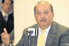 El empresario mexicano Carlos Slim, en una reciente conferencia en su país