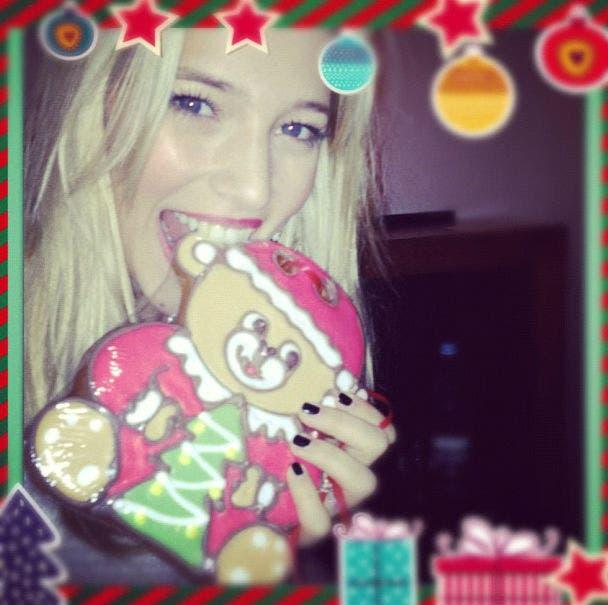 Lu compró galletitas navideñas antes de ir al cine. Foto: /@lulopilato