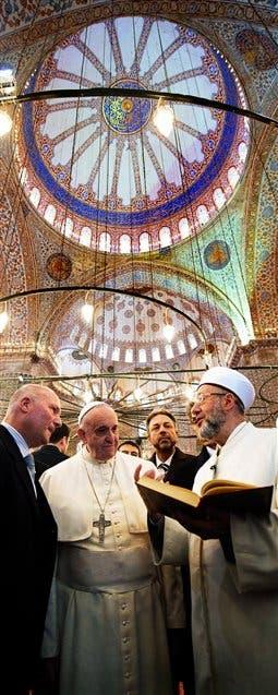 Francisco y el Gran Muftí, en la mezquita