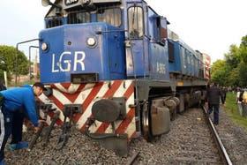 La locomotora del Roca que descalzó esta mañana