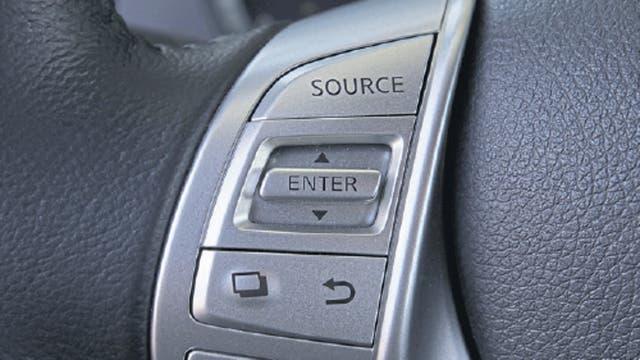 Comandos del audio en el volante