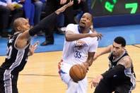 Los Spurs no acertaron los tiros exteriores y Oklahoma City empató la serie