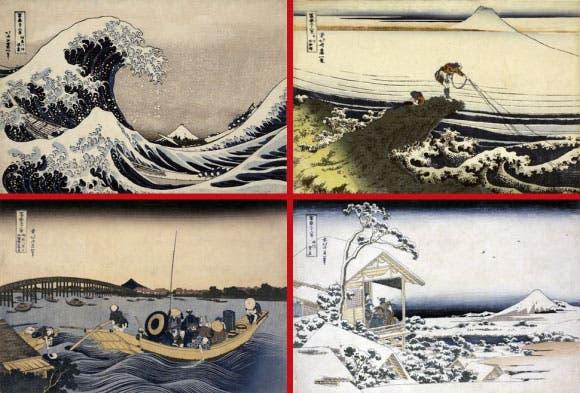 La gran ola de Kanagawa, la obra más famosa de Katsushika Hokusai, también estará en las página del documento