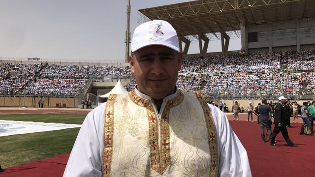 El párroco Jorge Hernández, oriundo de San Rafael, Mendoza, estuvo en la Franja de Gaza de 2008 a 2015