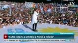 Masivo acto de Cristina Kirchner en Racing