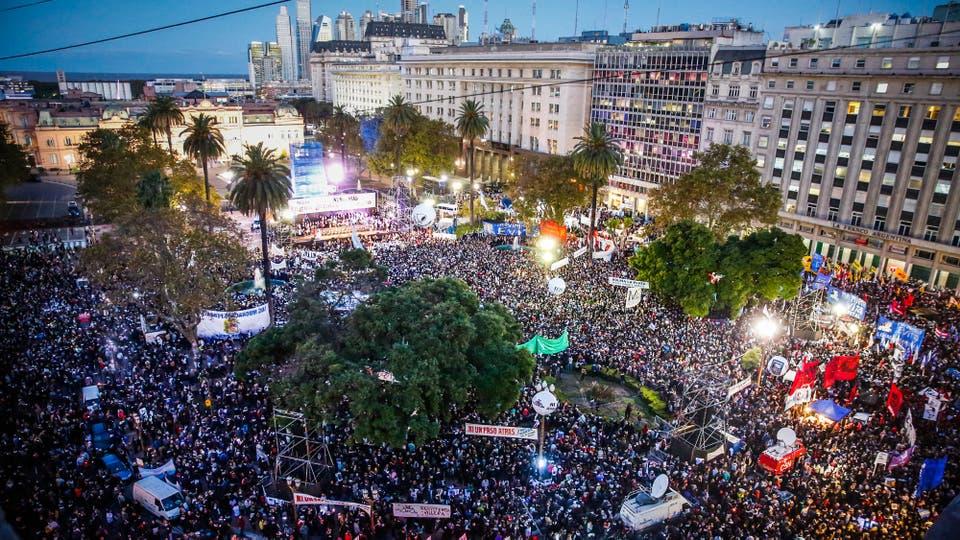 Marcha contra el 2x1. Foto: LA NACION / Marcelo Gomez