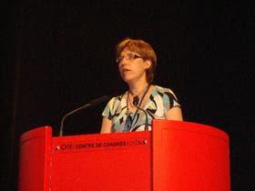 Anna-Sofia Melin, durante su exposición ante especialistas en fertilidad