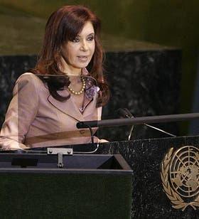 Cristina Kirchner habla en la ONU