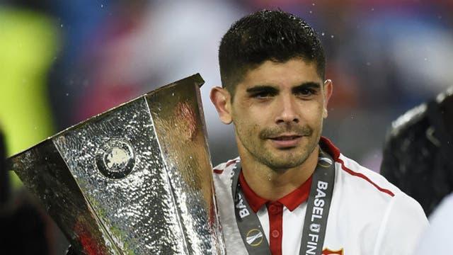 Banega, campeón de la Europa League con Sevilla