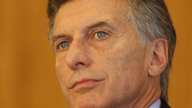 El presidente Mauricio Macri