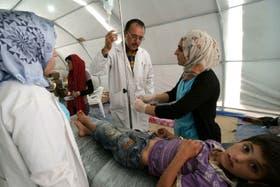 Miles de chicos fueron atendidos en varios hospitales sirios, a raíz de los enfrentamientos armados