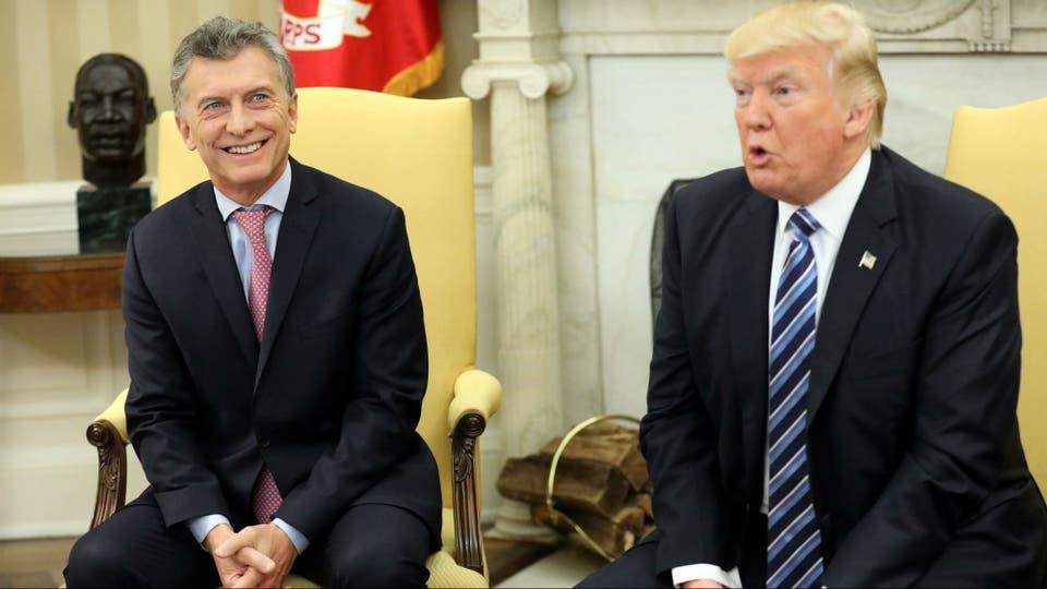 Macri, durante su visita a la Casa Blanca en abril