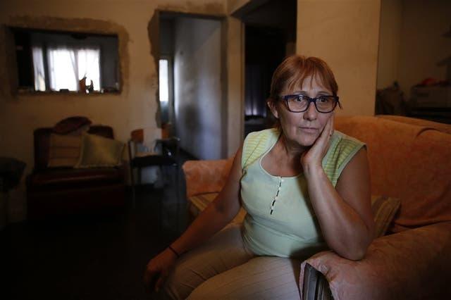 Sara Ninfa Chávez (63), en su casa del barrio El Libertador, partido de San Martín