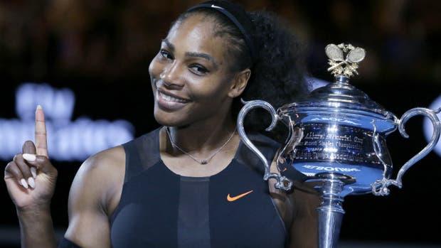 El último título de Serena, ganadora en Australia en enero pasado
